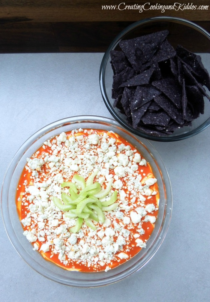 4th of July Recipes - Red, White, and Blue Buffalo Chicken Dip